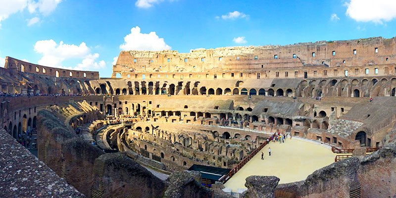 Area of the Colosseum in Rome Italy
