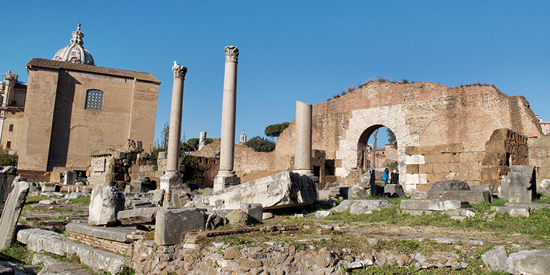 Remains of the Basilica Aemilia in the Roman Forum, Rome
