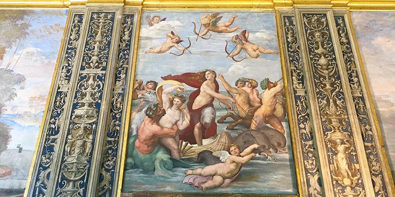 Galatea frescoes by Raphael in Villa Farnesina