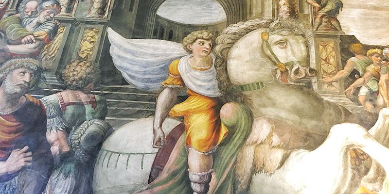 Alexander the Great and the Bucephalus, Villa Farnesina Rome
