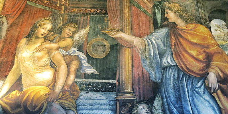 Alexander the Great and Roxana, Villa Farnesina Rome