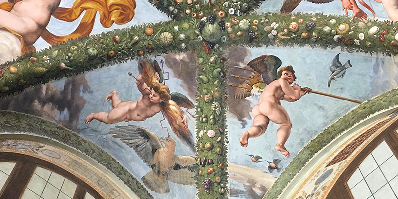 Lodge of Cupid and Psyche, Raphael's frescoes