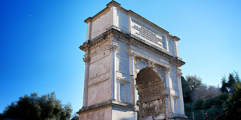 The Arch of Titus in the Roman Forum, Rome, Italy