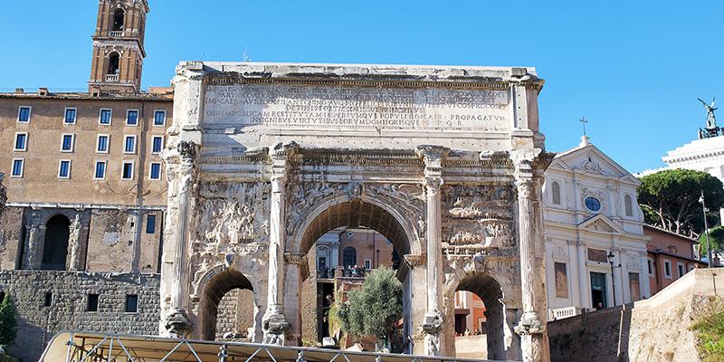 The Arch of Septimius Severus in the Roman Forum