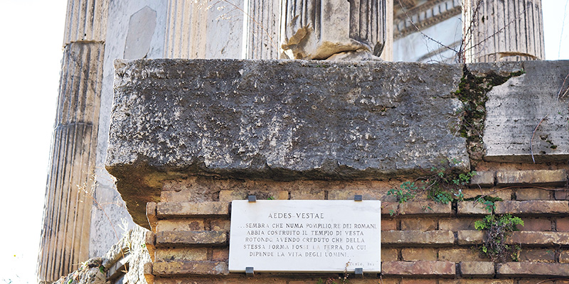 Remains of the Temple of Vesta in the Roman Forum