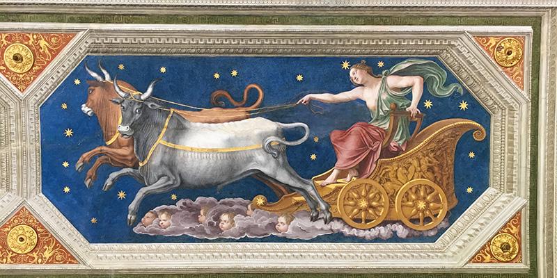 Lodge of Galatea, Peruzzi's Frescoes, Villa Farnesina Rome