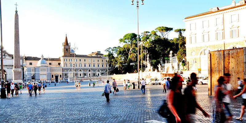 Piazza del Popolo and the Obelisk