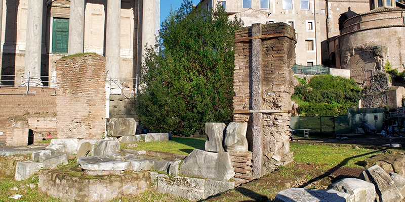 Remains of the Regia in the Roman Forum