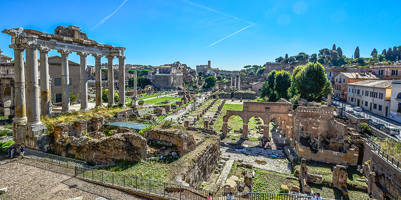 View of the Roman Forum from Capitoline Hill in Rome