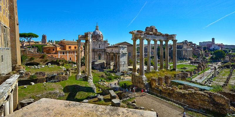 The Roman Forum in Rome