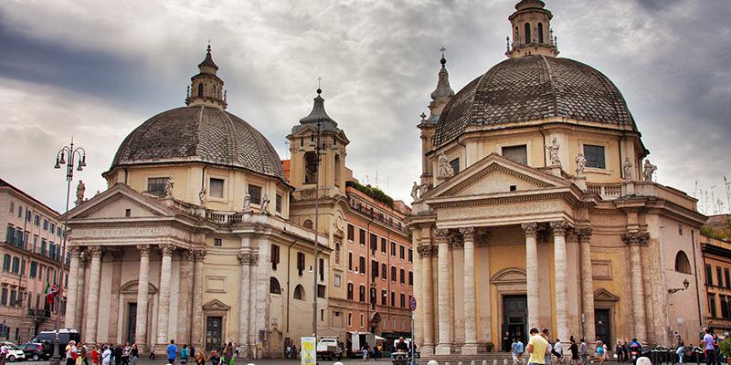 The twin churches i Rome