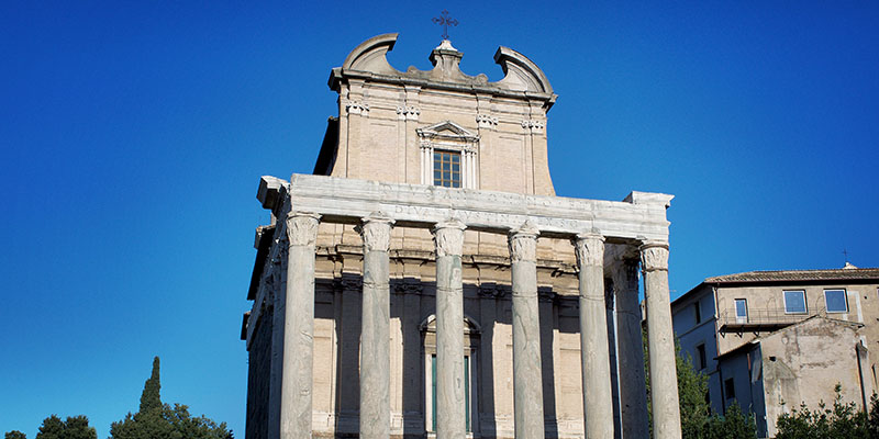 Columns of the temple of Antoninus and Faustina