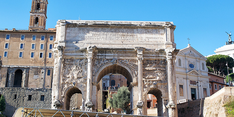 The Arch of Septimius Severus in the Roman Forum