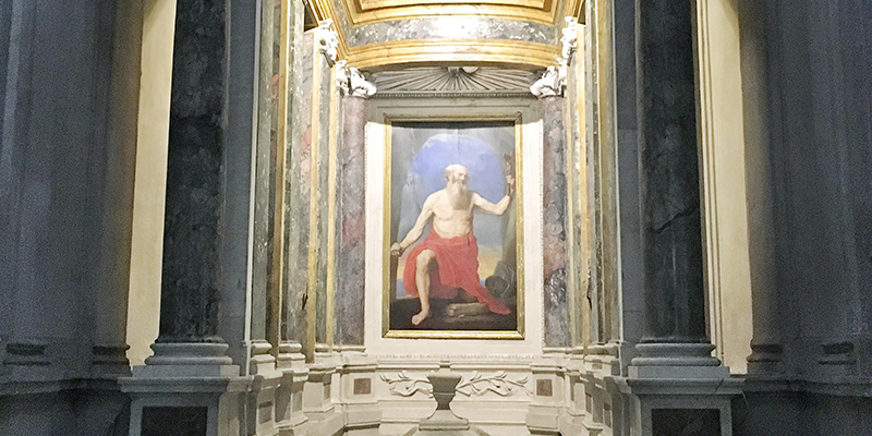 Moses Painting, Avila Chapel Church of Santa Maria in Trastevere