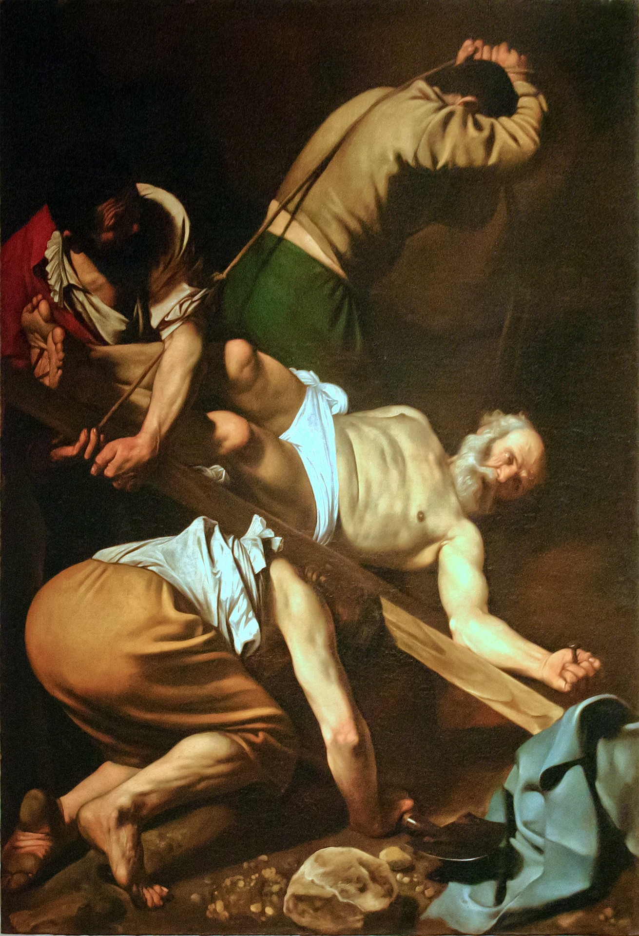 The Crucifixion of St. Peter, painting by Caravaggio