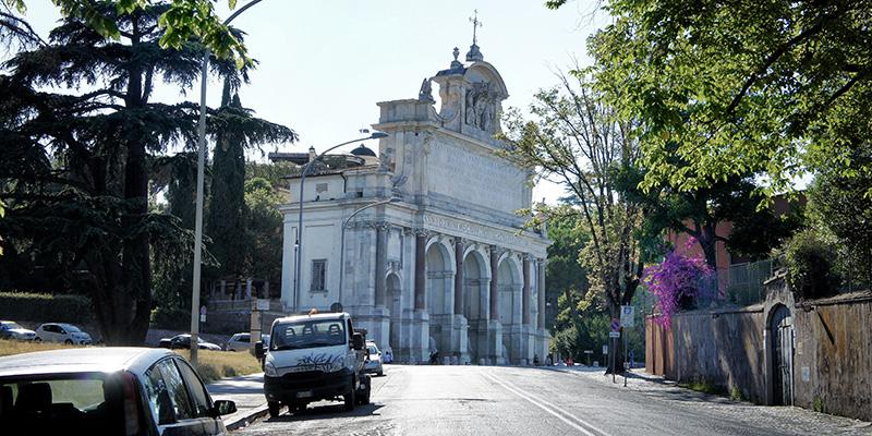 Gianicolo Hill Fountain in Rome