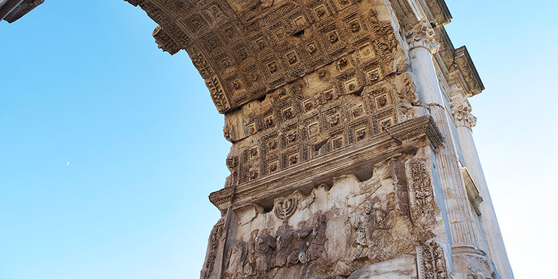 Menorah, detail of Arch of Titus