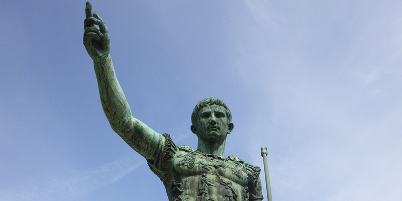 Statue of Julius Caesar in Rome