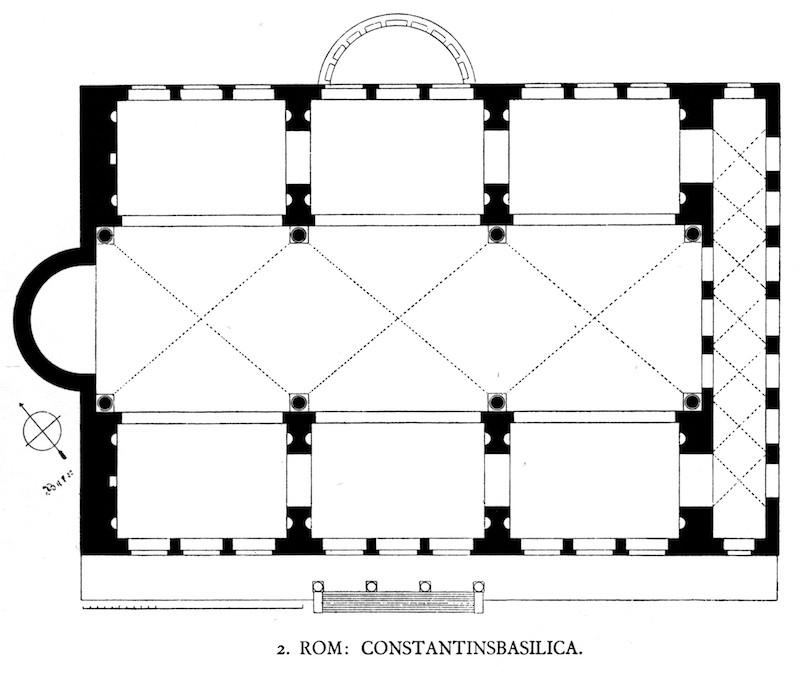 Plant of Basilica of Maxentius