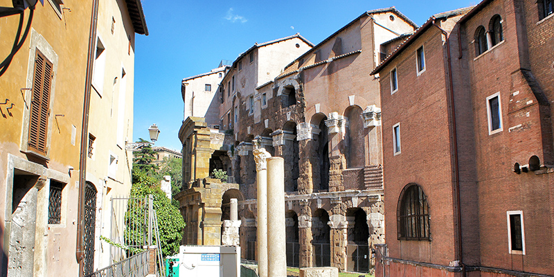 Apartments of Teatro Marcello in Rome, Italy