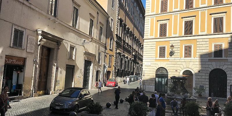 Piazza Mattei in Rome Jewish Ghetto